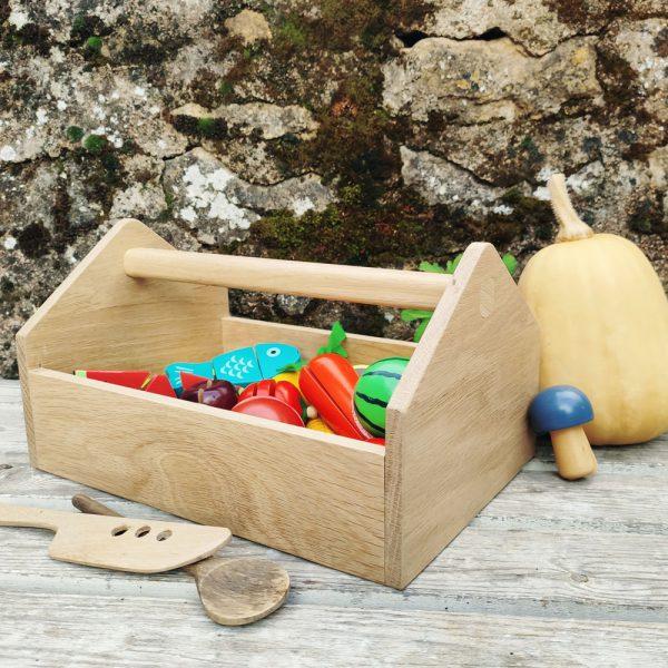 Cachou boite à outils en bois massif made in france